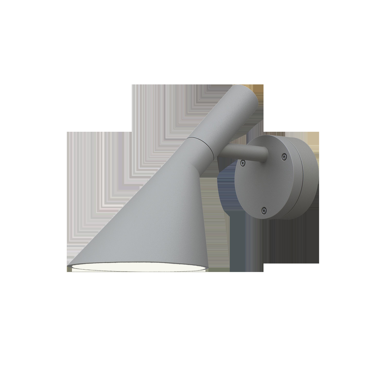 Louis Poulsen Wandleuchte AJ 50 Aluminiumfarben Struktur
