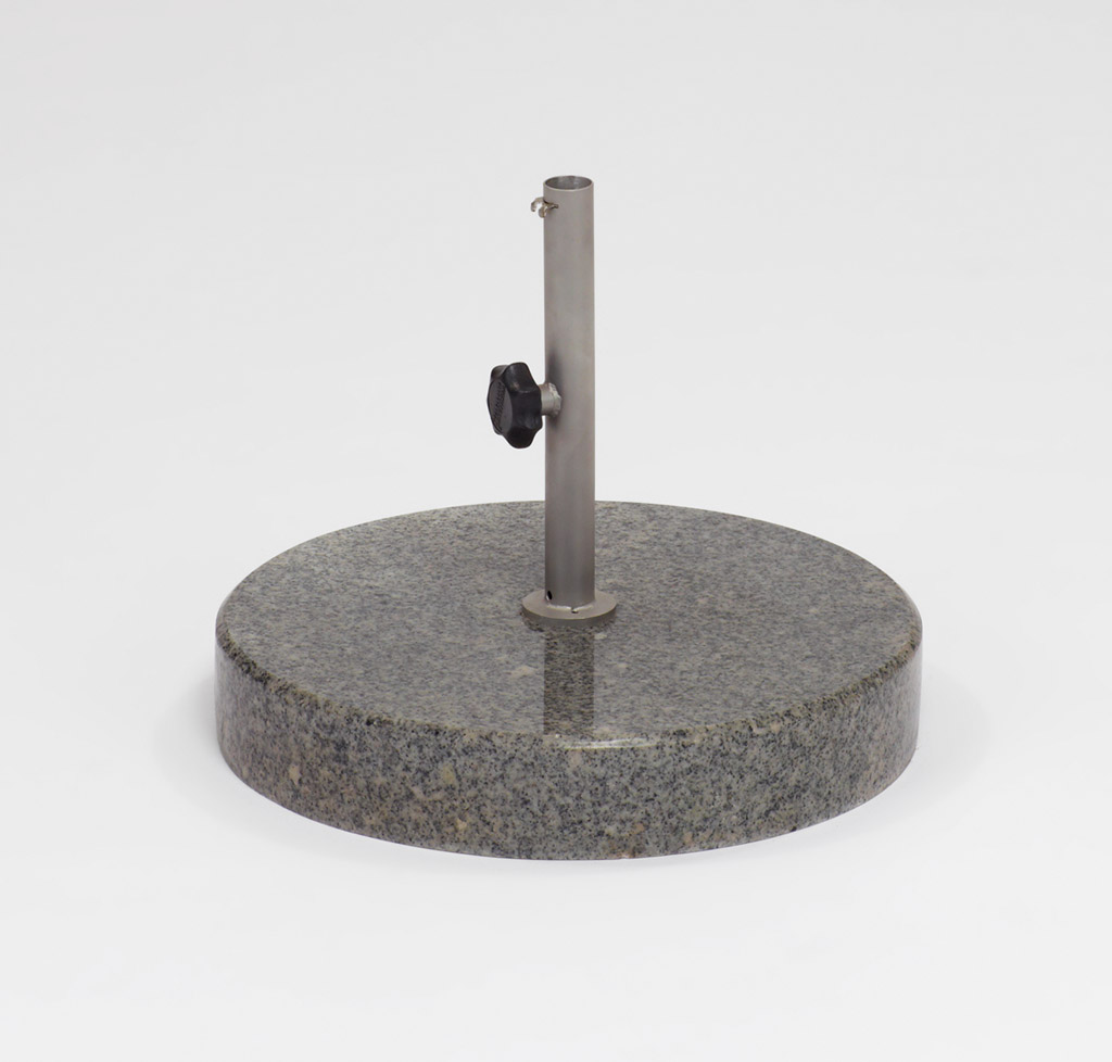 Weishäupl Bodenplatte Beton 50kg / Ø54 Dunkelgrau