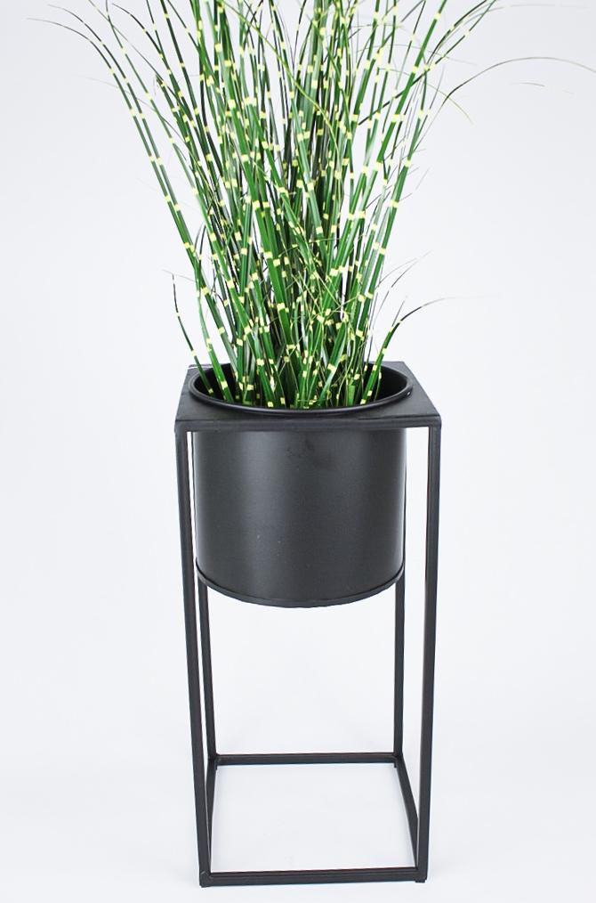 Pflanzentopf gross 30 cm hoch schwarz