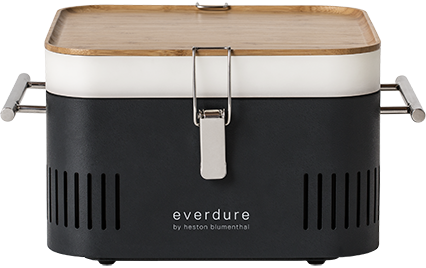 Everdure Cube HBCUBEGDE Holzkohlegrill, Tragbar, Farbe graphite