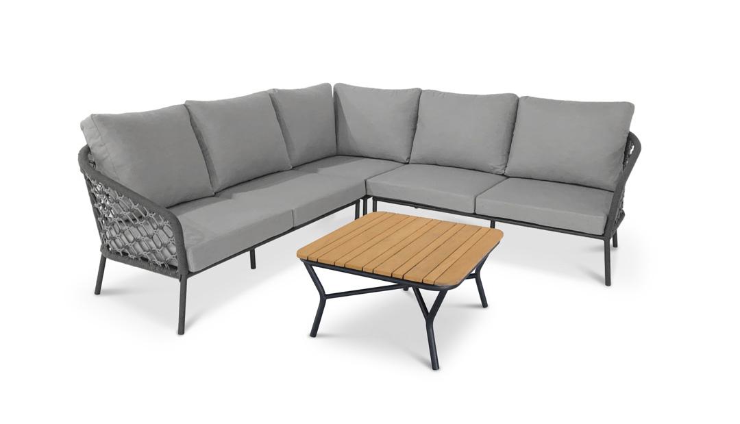 Best Mali 98794050 4-tlg. Lounge-Gruppe anthrazit/grau