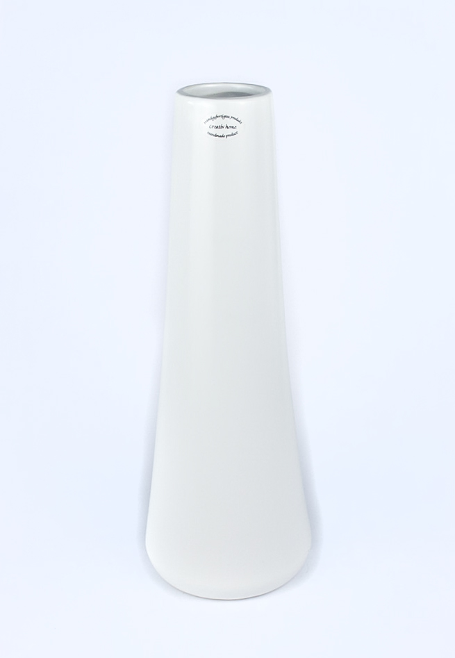 Keramik Vase Bilbao 12x12x37cm weiss