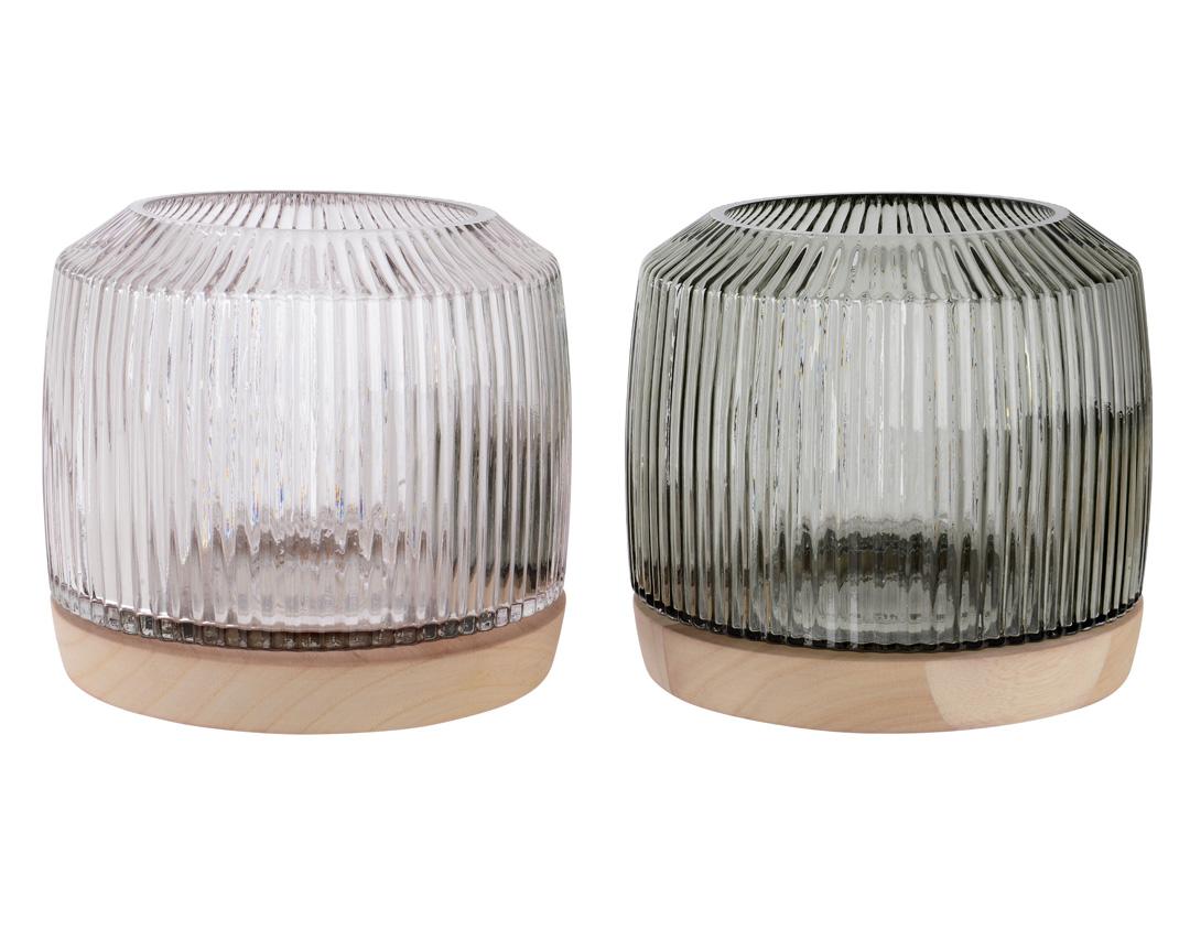 Windlicht Glas/Metall
