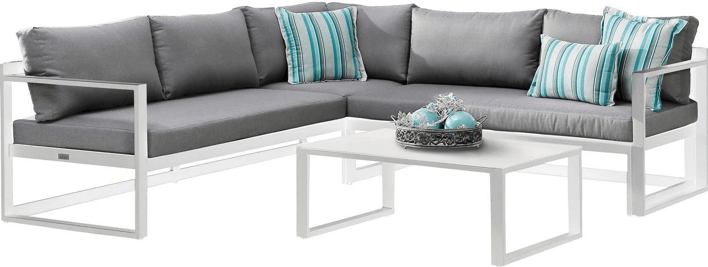 Best Lounge-Gruppe Rhodos 98693000 3-tlg. Weiß/Grau